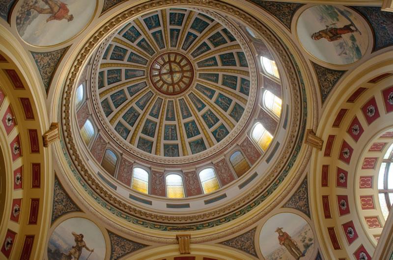Montana Capitol dome, Helena.