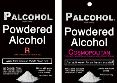 Powdered alcohol, just add water.