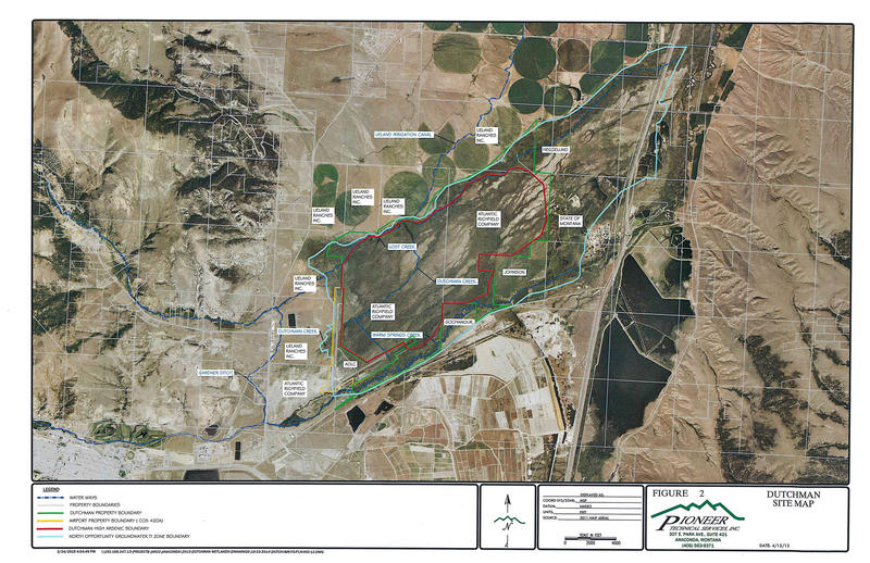 Overview of the Dutchman Wetlands project area near Anaconda, MT