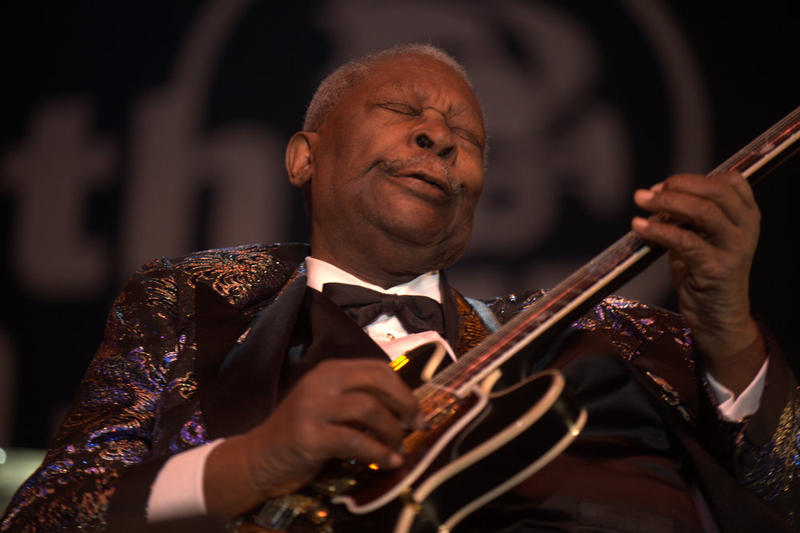 Famed blues guitarist B.B. King in a 2009 performance