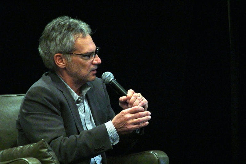 "Author Jon Krakauer speaks during about his book ""Missoula: Rape and the Justice System in a College Town"" during a community forum in Missoula, MT Wednesday May 6."