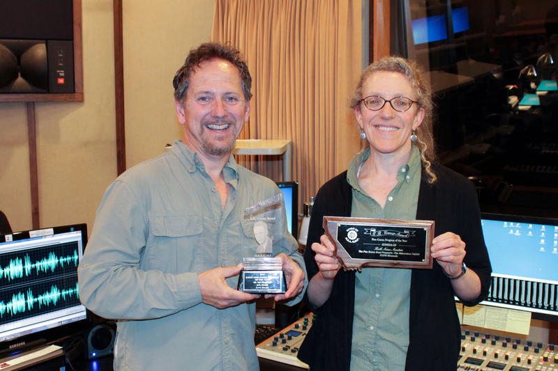 "John Floridis, host of ""Musician's Spotlight"" and Beth Anne Austein, MTPR producer both won awards from the Montana Broadcasters Association."