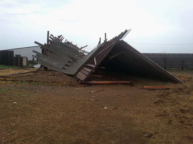 The storm destroyed some outbuildings on 66 Ranch outside of Havre