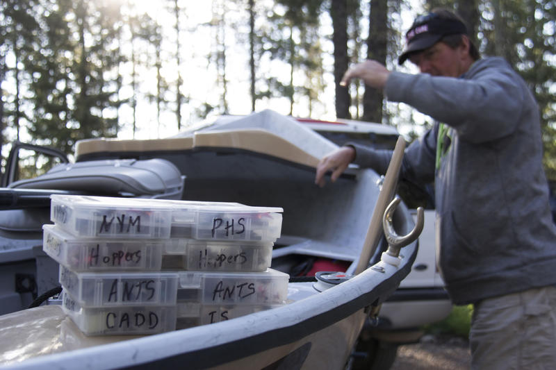 A.J. Coulter guides fly fishing trips on rivers all around Montana. Recently, he's been starting his trips earlier in the day to avoid angling in heat of the day so as to not catch unhealthy fish.
