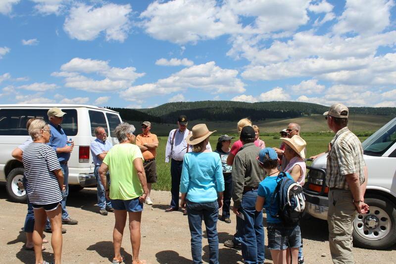 Montanans tour the Black Butte mine site.