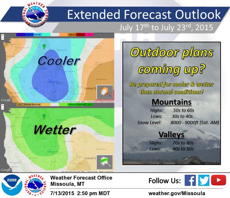 Cooler, wetter weather is forecast for July across the western U.S.