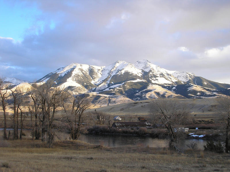 Emigrant Peak north of Yellowstone, near the area of a proposed Lucky Minerals mine exploration.