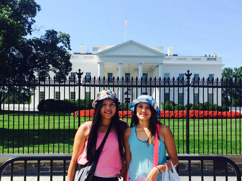 Kianna Finley and Gabby Houle were among 1,000 youth aged 14-24 who attended the Tribal Youth Gathering at the White House. The girls say the same social issues natives face in the Flathead are talked about on reservations across the country.