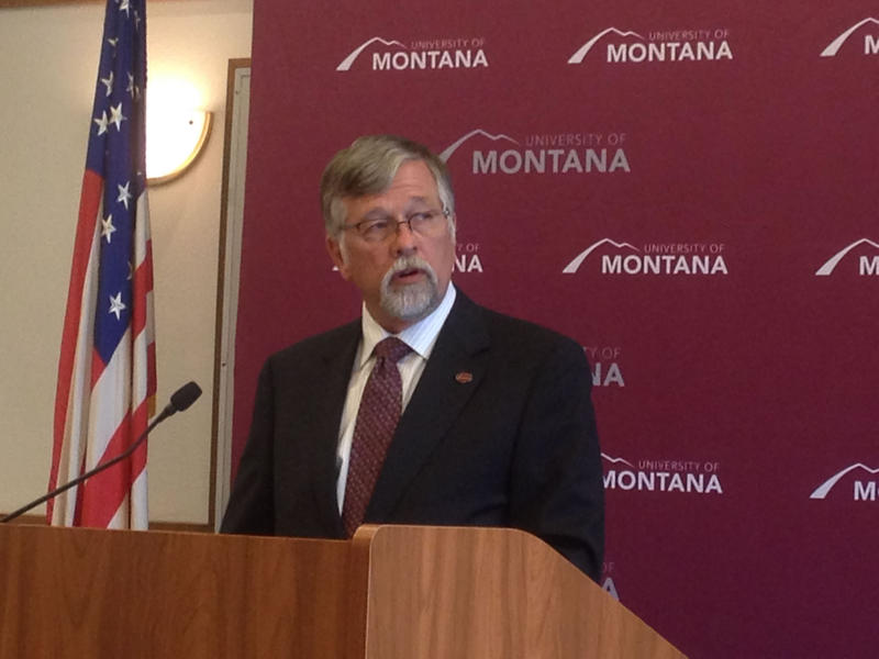 UM President Royce Engstrom speaks about UM's handling of sexual assaults at a July 10 press conference in Missoula, MT.