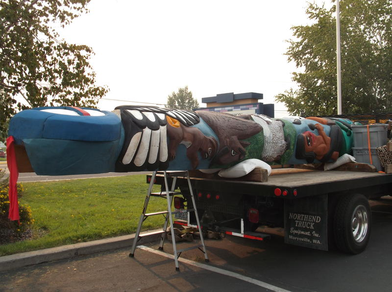 The totem pole Jewell James is taking to the Northern Cheyenne Reservation