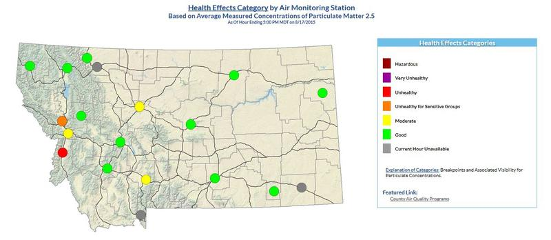 Montana air quality map.