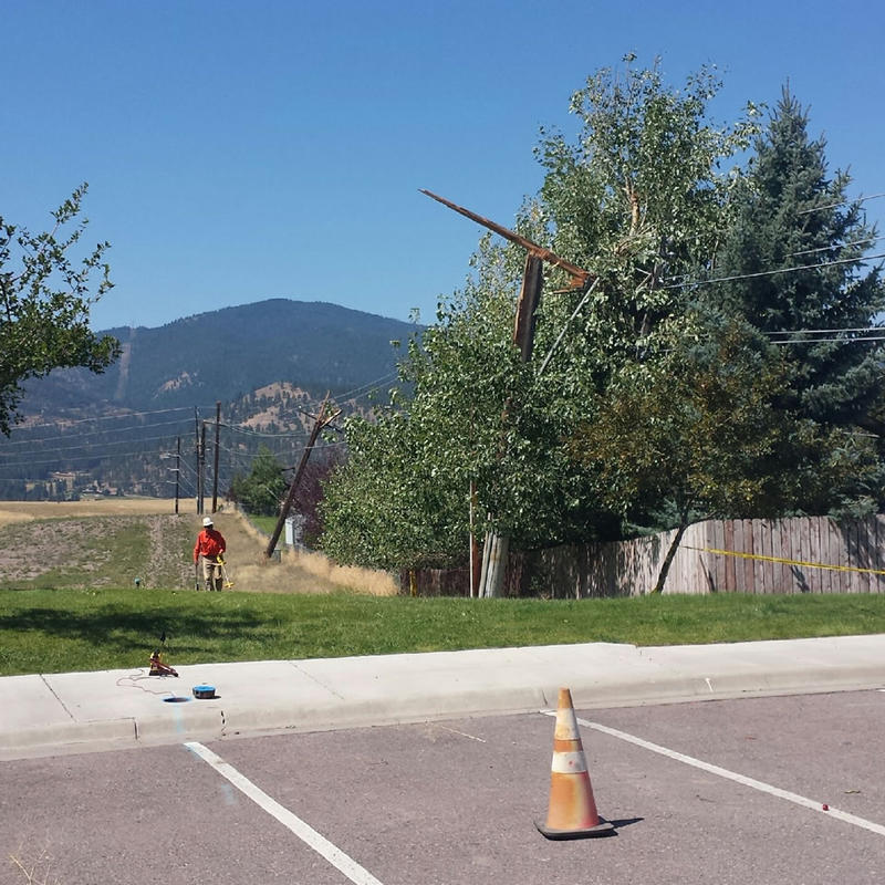 Northwestern Energy says some residents in Missoula's Linda Vista/Miller Creek area will likely be without power for another day.
