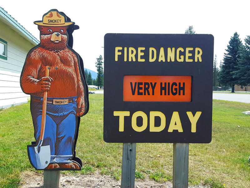Fire Danger very high today.