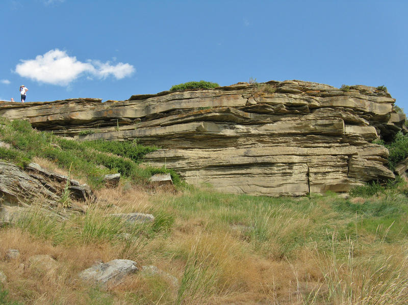 A buffalo jump at First Peoples Buffalo Jump, formerly known as Ulm Pishkun