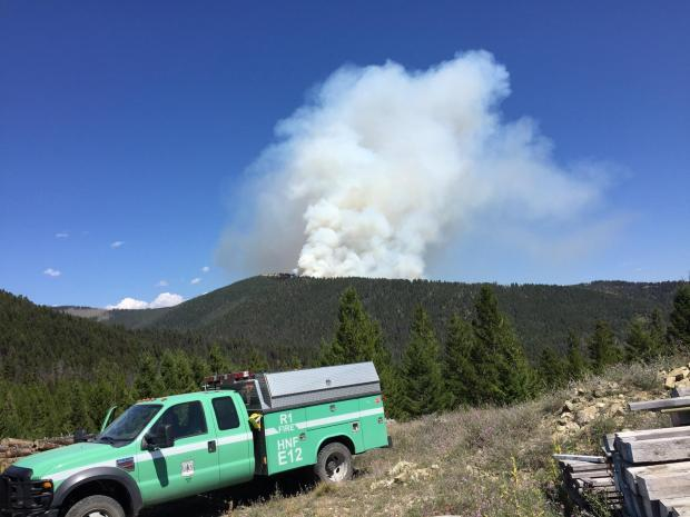 The Sucker Creek Fire seen on August, 11, 2015.