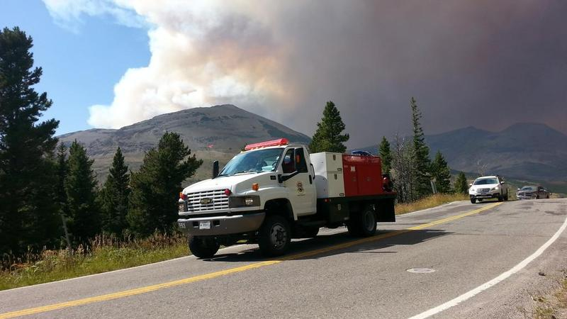 Glacier Park's habitat has been shaped by fires like the Thompson Fire, seen here Tuesday, August 11, 2015.