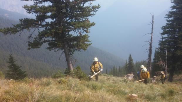 Crews on the Squeezer Fire between Condon and Swan Lake