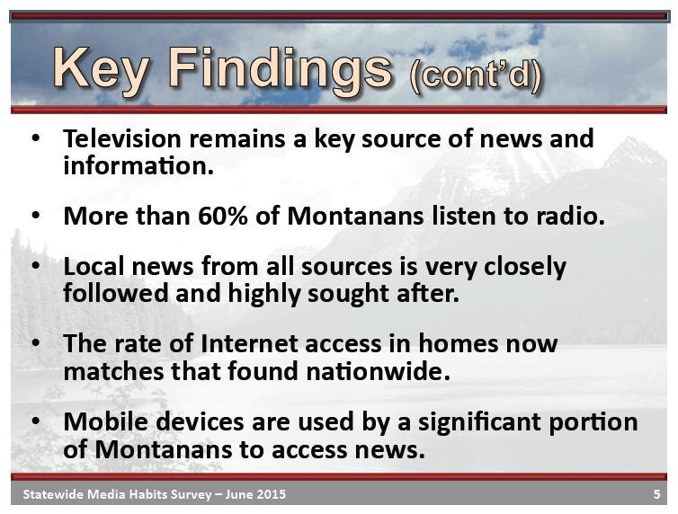 The UM BBER survey found Montanans seek out local news from all sources.