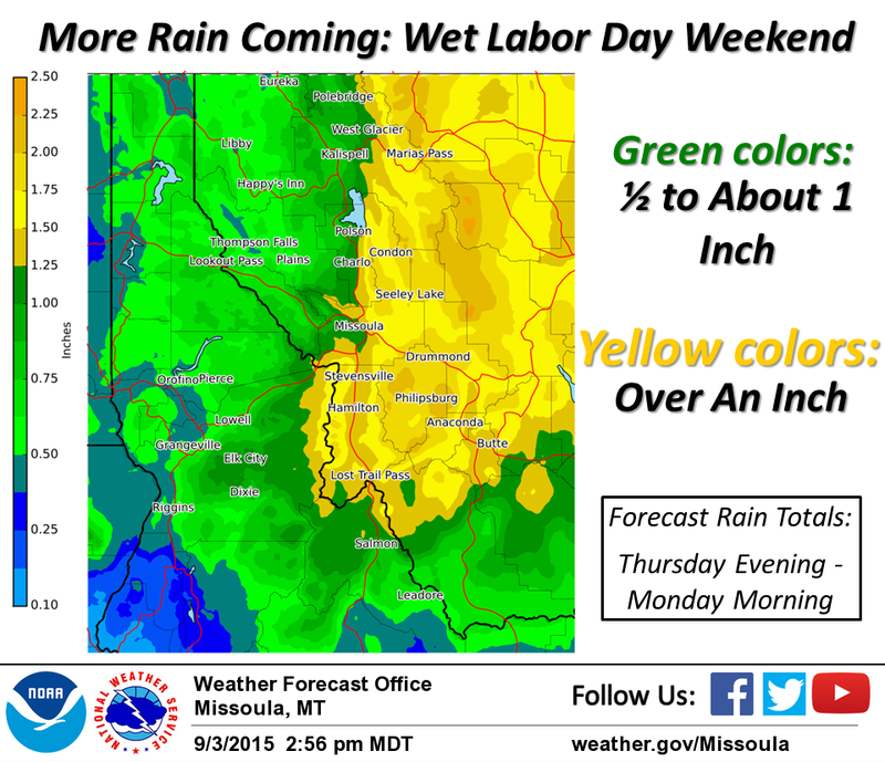 More wet weather is on the way to western Montana.