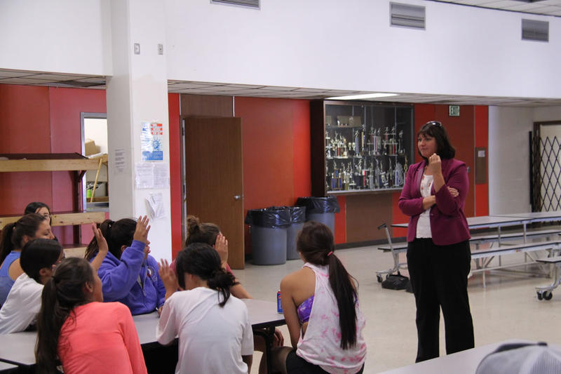 Superintendent of Public Instruction Denise Juneau visited Heart Butte last week to kick off the Schools of Promise program. She talked with students, parents and school staff about what the million dollar grant means for the school.