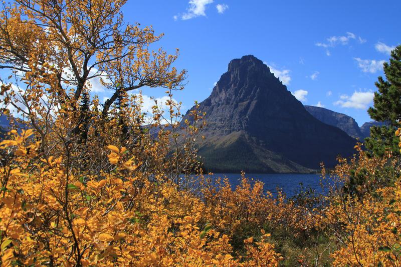 Two Medicine Lake and Sinopah Mountain.
