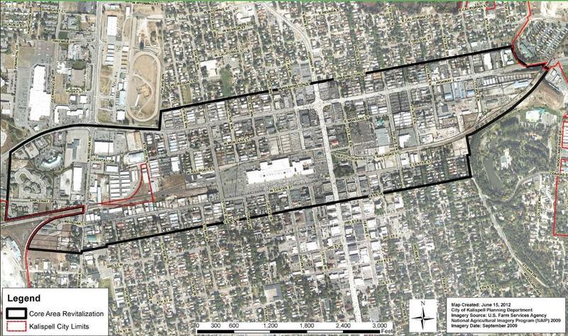 Kalispell Core Area Revitalization Study Area Boundry