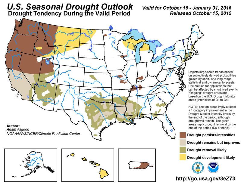 Seasonal drought outlook