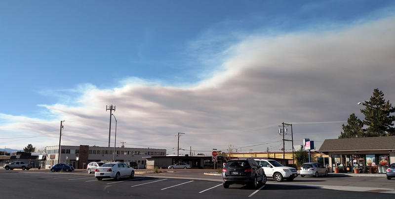 Smoke in the sky west of Missoula is coming from the West Fork Fish Creek Fire, officials say.