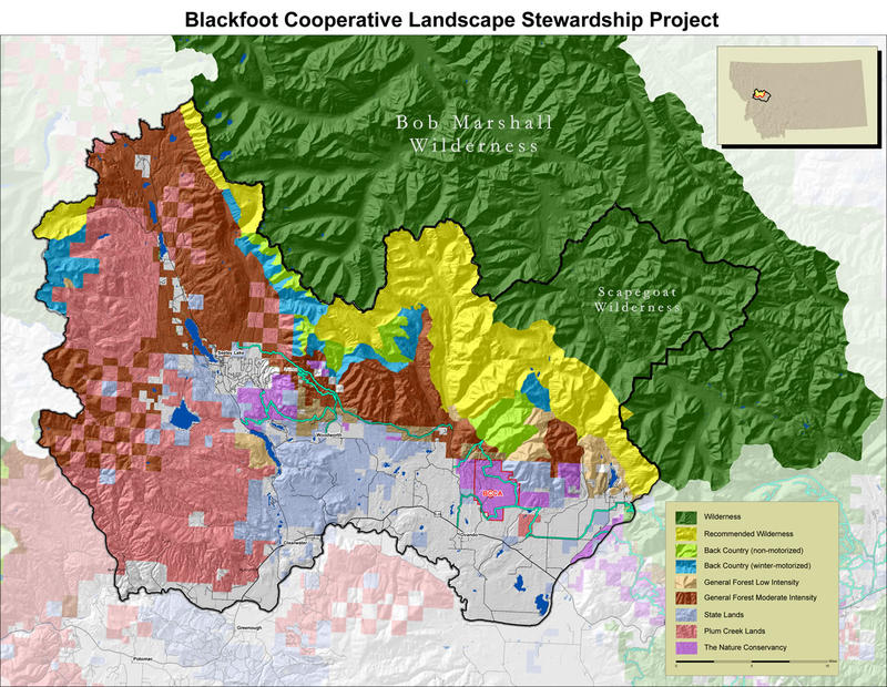 Blackfoot Cooperative Landscape Stewardship Project Map