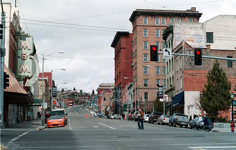 Uptown Butte, looking north, at the intersection of Main Street and Park Street in April, 2006.