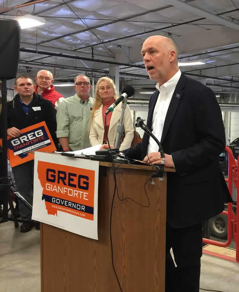 Republican candidate for governor Greg Gianforte.