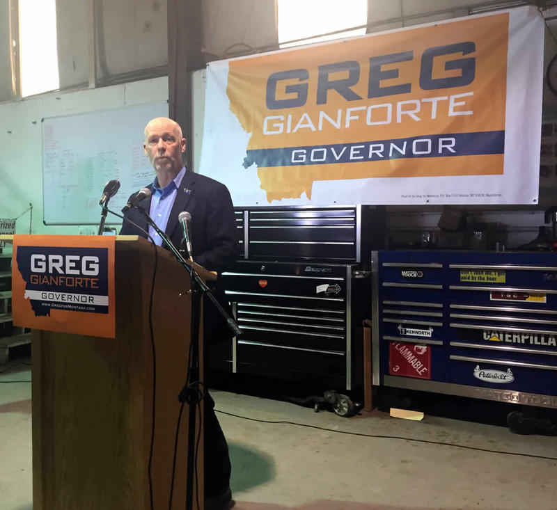 In his first stump speech in the state capitol since announcing a bid for Governor, Greg Gianforte said he would not take special interest PAC money in his campaign.