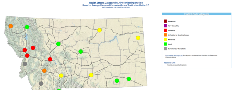 The Missoula valley's air quality hasn't been this unhealthy since 2013.