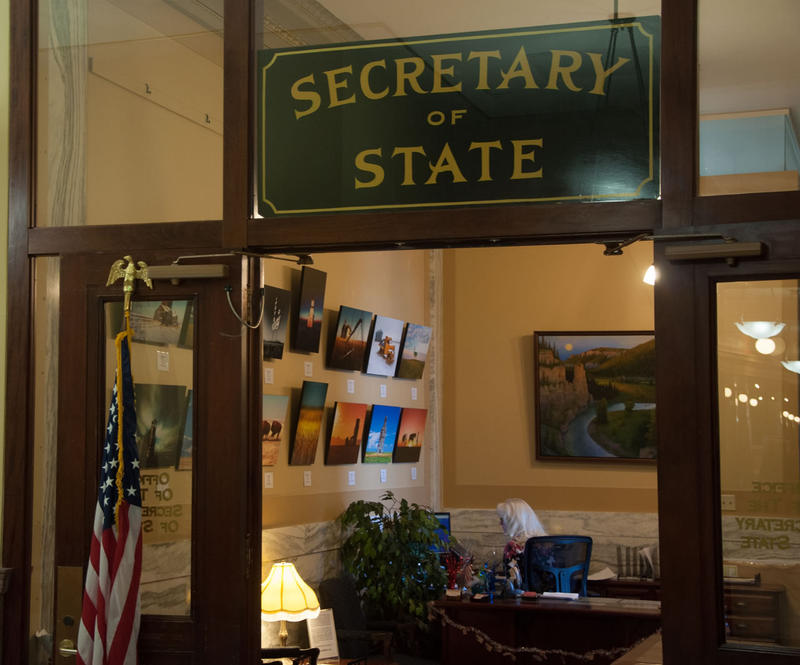 A handful of legislative and judicial candidates waited outside Secretary of State Linda McCulloch's office Thursday to be the first to register when she opened the doors at 8 a.m.