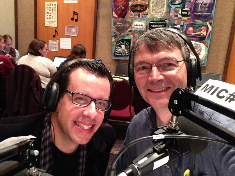 Helena Symphony Music Director Allan R. Scott with MTPR Program Director Michael Marsolek.