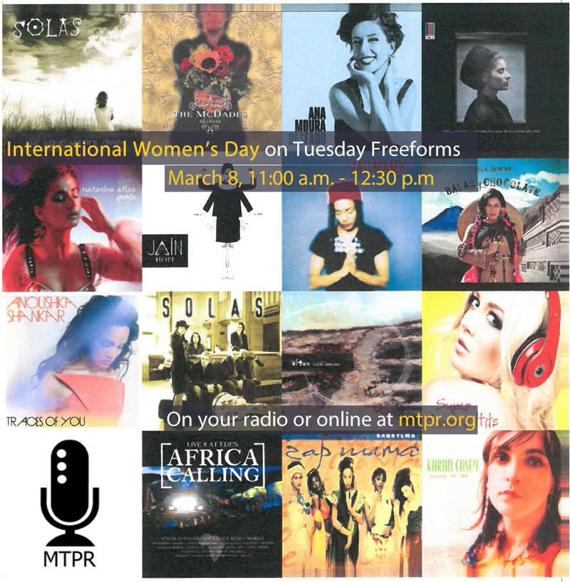 Tune in on your radio or online to celebrate International Women's Day with Tuesday Freeforms.