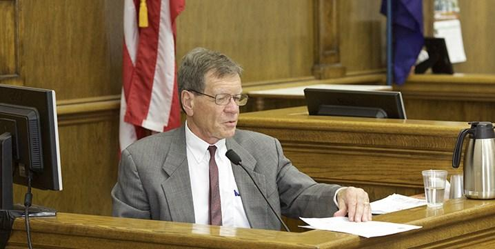 Commissioner of Political Practices Jonathan Motl testifies in his lawsuit against Republican Rep. Art Wittich, March 31, 2016.