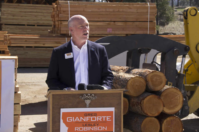 Republican gubernatorial candidate Greg Gianforte unveiled his tax plan Monday afternoon at a lumber yard in Clancy.