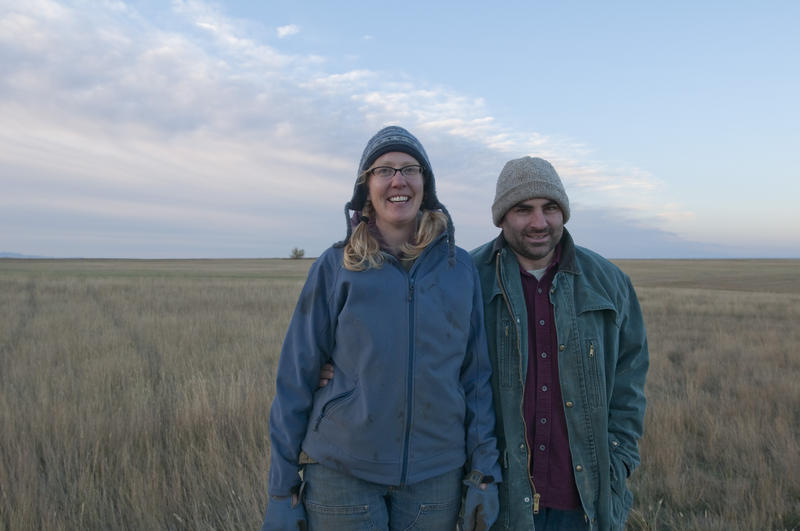 Organic farmers, Doug Crabtree and Anna Jones-Crabtree, north-central Montana