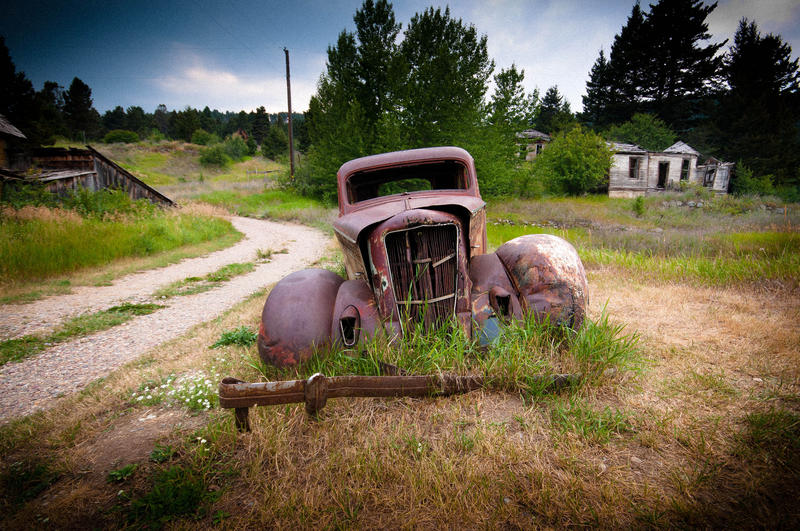 Parking Has Expired (1936 Dodge in Marysville, Montana)
