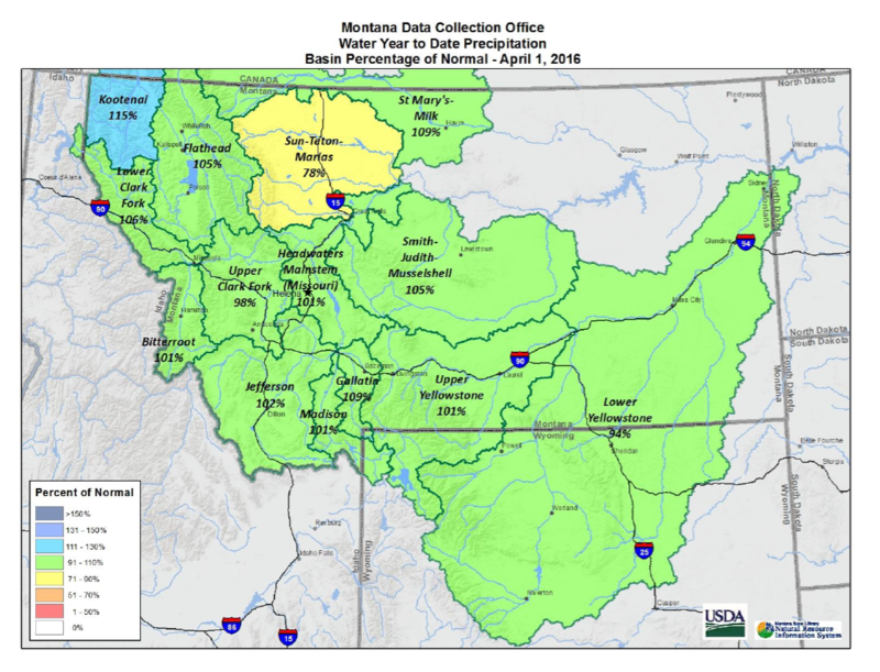 March Precipitation Improves Montana's Streamflow Outlook