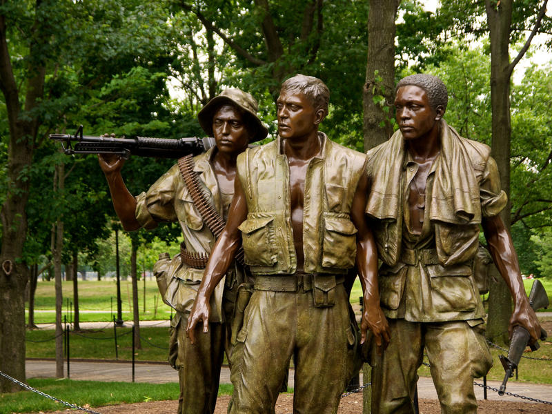 """The Three Soldiers"" statue on the National Mall, part of the Vietnam Veterans' Memorial in Washington, D.C."