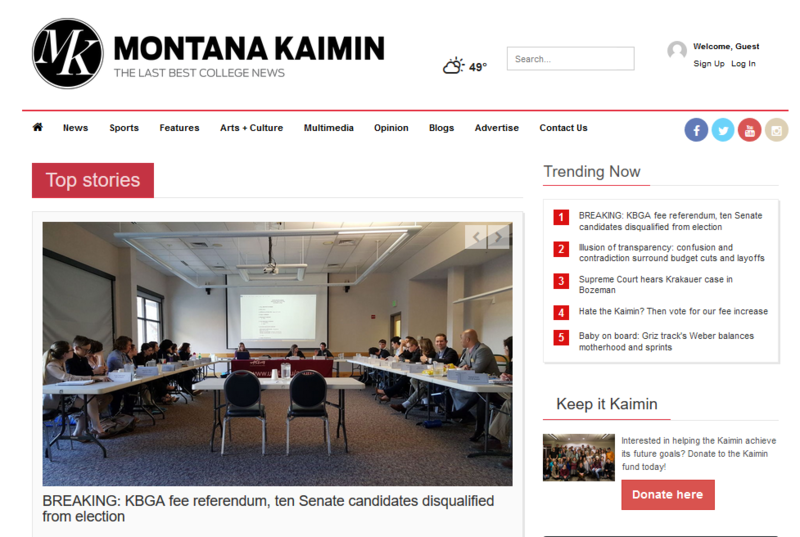 University of Montana's student newspaper, the Kaimin, says it will have to cut staff if it doesn't get a proposed $1 fee increase students are voting on this week.