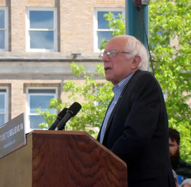 Democratic candidate for President Bernie Sanders speaks in Missoula, MT, Wednesday May 11, 2016.