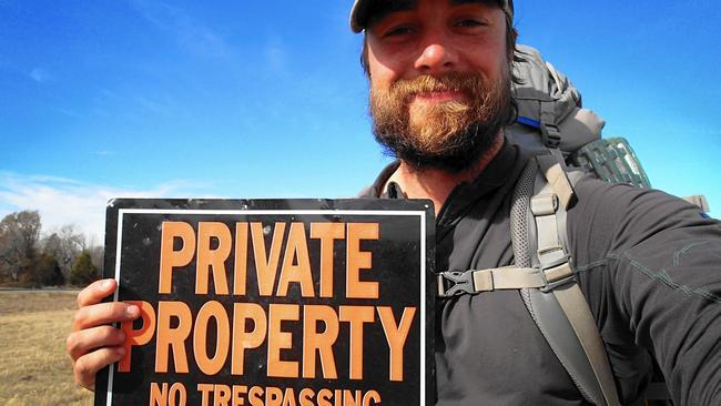 """Ken Ilgunas, author of """"Trespassing Across America:  One Man's Epic, Never-Done-Before (and sort of illegal) Hike Across the Heartland."""""""