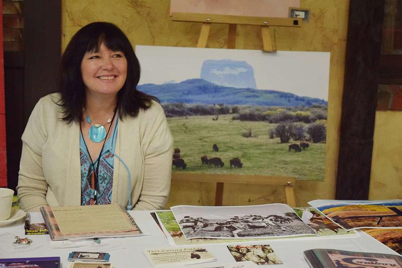 Teri Loring Dahle runs a graphic design company. She attended the conference to network with other native business owners.