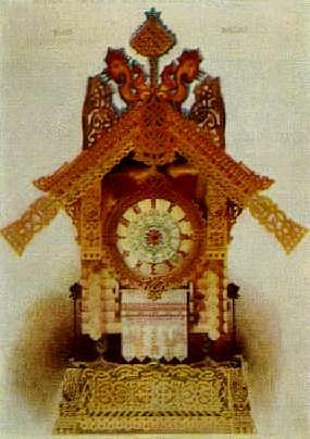 "The sketch that inspired the ""The Hut On Fowl's Legs: Baba Yaga"" movement in Mussorgsky's ""Pictures At An Exhibition:"" Viktor Hartmann's ""The hut of Baba-Yaga on hen's legs–clock in the Russian Style"""