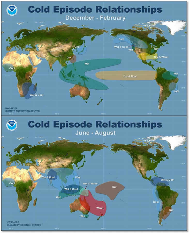 Regional impacts of La Niña.