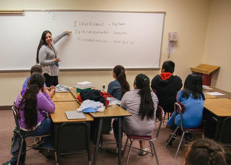 Blackfeet teacher education
