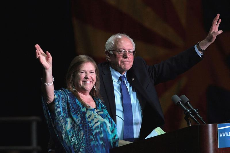 Jane and Bernie Sanders.